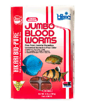 Hikari - Jumbo Blood Worms Cubes