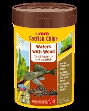 Sera Catfish Chips Wafers with Wood